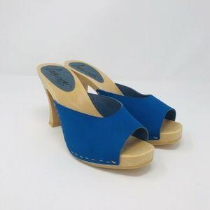 NEW! Crayons Woody Stitch Mule Sandal Heels